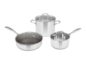 Three-piece non-stick coating